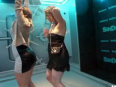 Superb babes enjoying every moment at their shower time scene