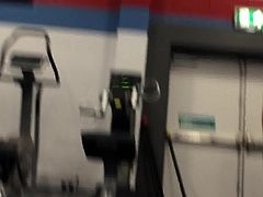 teen in gym