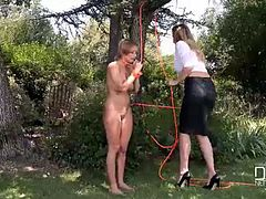 loulou petite and danielle maye slave to the strap on