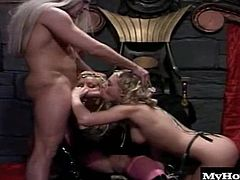 Bridgette Kerkove is an evil queen and Katie Morgan is a hot babe who is trying to save the world. Katie shows up at Bridgettes lair to get her pussy railed by big dicks and Bridgette gets in on the action too it is after all her castle Does Katie get to save the world or just get fucked Either way, you win