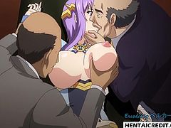 Hentai babe gets fucked rough by older men