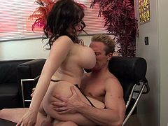 Office foursome filled with cocksucking and passionate sex