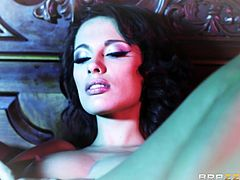Sexy Nikita has wild dreams about abandoning herself completely to lusty desires... Click to watch the seductive brunette naked, exposing her crazy body and fascinating big tits. This naughty patient is just eager to play with cock, so see her sucking dick!