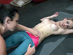 Wenona's nude perfect body is a huge turn on for the sexy shemale laying on the floor. The atmosphere intensifies, as they kiss passionately and the slutty brunette licks Kelly's naughty nipples. Click to watch the hot blonde shemale seduced with a kinky blowjob!