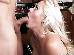 Big tits fuck with blonde milf
