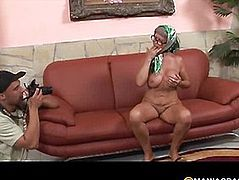 Aunt with a hairy pussy sucks dick guy