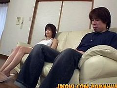 Rio Kurusu sexy Asian maid sucks cock, gives tit fuck and ends up with a lo