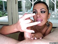 Sinfully sexy stunner Sienna West knows no limits when it comes to cock stroking