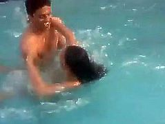 Indian college girl nude in pool