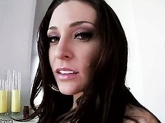 Brunette Gracie Glam wants this masturbation session to last forever