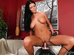 Christina Jolie pleases herself the way she loves it