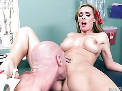 Tanya Tate with massive hooters wants this blowjob session with horny fuck buddy Johnny Sins to last forever