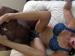 Big-boobed GILF IR fucked (while cuckold watches)