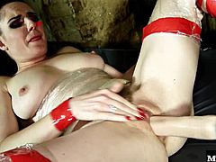 she gets used up by one of the guards. He fingers her wet pussy and then sticks his cock right in, after he has fucked her face a little bit of course. Samantha likes getting fucked by guard Alexei Jackson and she might just figure out how to stay in jail a little longer.