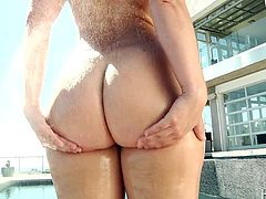 If you're familiar with Remy LaCroi, then you know what she's famous for: that ass. She's got a big booty and every man immediately wants to worship it, and Jordan is no exception. He gladly provides due diligence, squeezing those cheeks and tonguing her little brown hole. She blows him in appreciation.