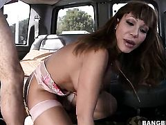 Blow job in the back of a car