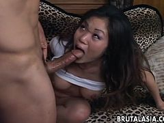 Sucking him off like a good little whore starts off the session. She then gets fucked and the main thing is her ass. She gets anal blasted with his rock hard cock.