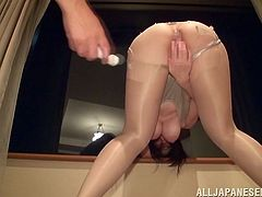 Like most Japanese girls, Koyomi is always eager to ride a dick. She comes to see her man in an amazing costume and lets him touch her tight pussy. He tears off her dress and shoves his finger into her shaven cunt. Koyomi then opens up her cunt for him, to fuck hard.