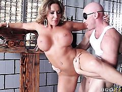Richelle Ryan with giant jugs is good at snake sucking and loves it