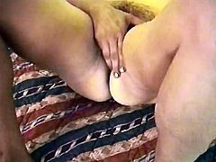 Camey needs a big cock to fill her hairy pussy.