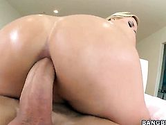Huge ass is oiled and penetrated