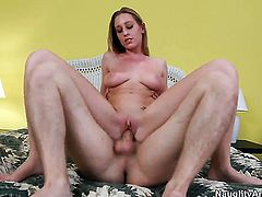 Lizzy London keeps her legs apart to be hammered over and over again by Danny Wylde