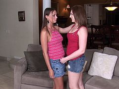 Pale skin beauty gets into a lesbian 69 with her friend