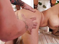 Senorita is extremely horny in this hardcore sex session featuring her getting humped by Mr. Pete