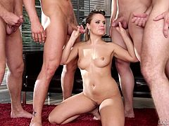 If you enjoy seeing horny ladies entertaining more guys, click now! Blanche, Bara Brass and naughty Chrissy are just hungry for cock and craving to get pounded hard... See these foxy bitches sucking dicks with passion!