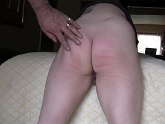 Caned arse with plenty of ouch