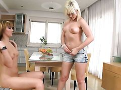 Blonde Lana S loves the way Bibi Noel licks her fuck hole