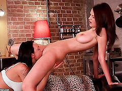 Brunette Sunny has lesbian sex session of her lifetime with Katusha