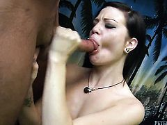 Alissa Belle gets skull pounded by horny guy