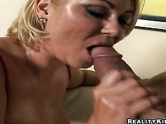 Blonde getting throat fucked with zero mercy by Billy Glide