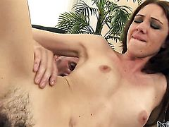 Katie Angel tries her hardest to make her sex partner bust a nut