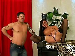 Brunette babe Natalia Forrest really knows what she likes. She spreads her cunt wide on a grand piano for her servant boy to lick her like never before. Tight pussy pleasing is what she needs to make her cum.