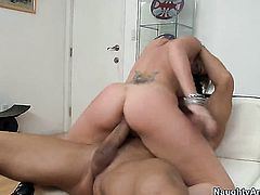 Courtney Cummz is too horny to resist Billy Glides stiff tool