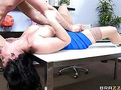 Bill Bailey makes his hard love wand disappear in incredibly sexy Casey Cumzs ass