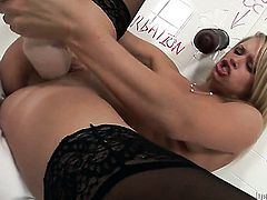 Heather Starlet gives herself some wet spot stimulation with the help of her fingers