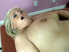 Bodacious blonde bitch with a big ass gets fucked rough and hard