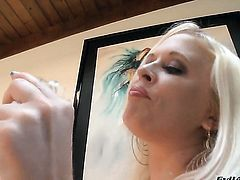 Angel Vain shows off her erect clit as she gets banged