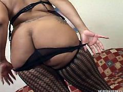 Ace is watching this fat black babe play with her wet cunt, but he wants to join in on the fun. He licks her saggy tits and buries his face in her inviting pussy. Watch him lick her clit, to make her cum so hard.