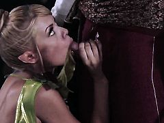 Riley Steele is giving a blow job
