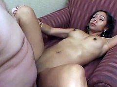 Sexy Indian gal has got laid Rough And Facialed