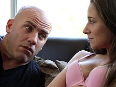 Big boobs Cassidy Klein bites back a moan while getting pounded doggystyle in a reality shoot