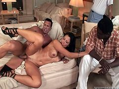 Kinky and always horny wife likes cuckolding her loving men
