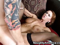 Janet Mason with giant jugs fucks like theres no tomorrow in steamy action with hot bang buddy Chad Alva
