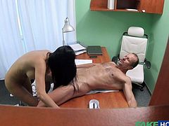Busty British Jasmine and Doctor George in the Fake Hospital - Big Load Jerk