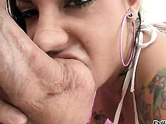 Mike Adriano uses his rock hard meat stick to make Mason Moore happy after she gives mouth job