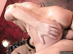 Blonde Aurora Snow gets mouth fucked by dudes rock solid love stick